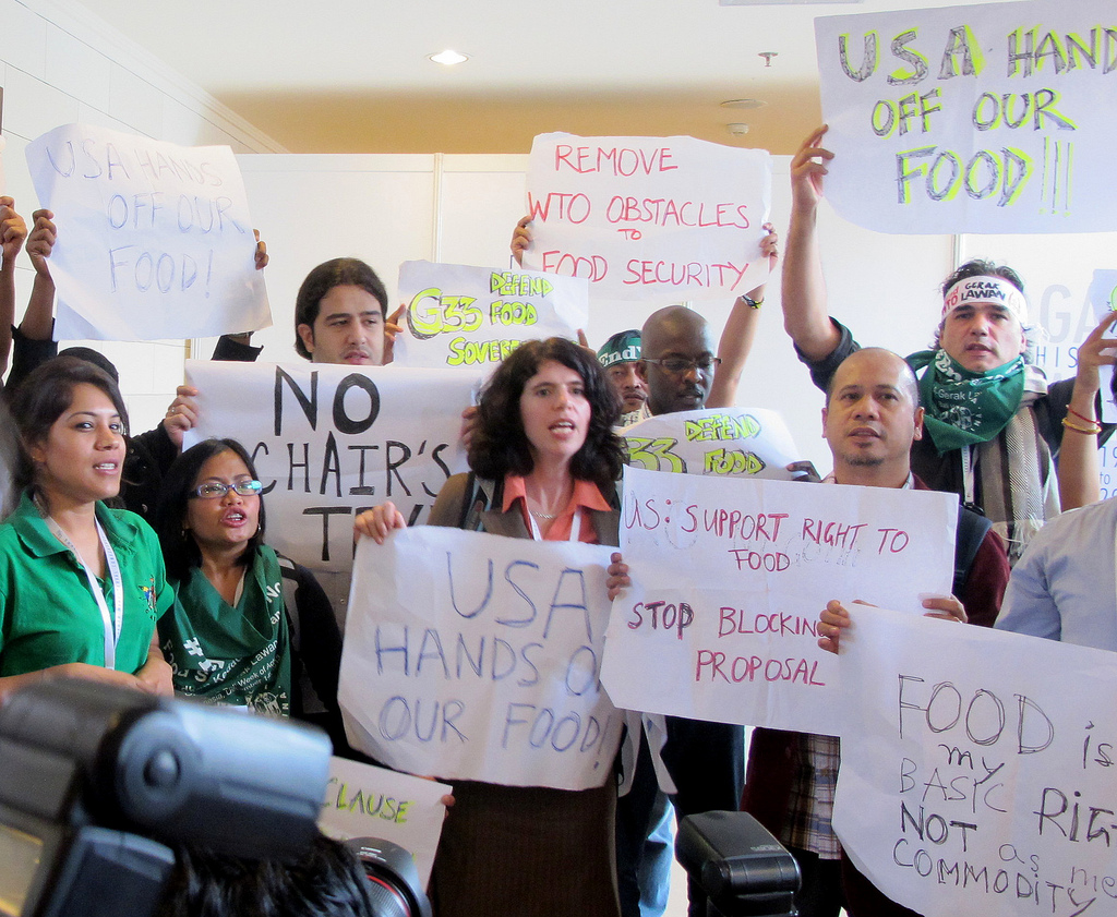 Inside Action to push G33 countries to support food sovereignty and reject the peace clause