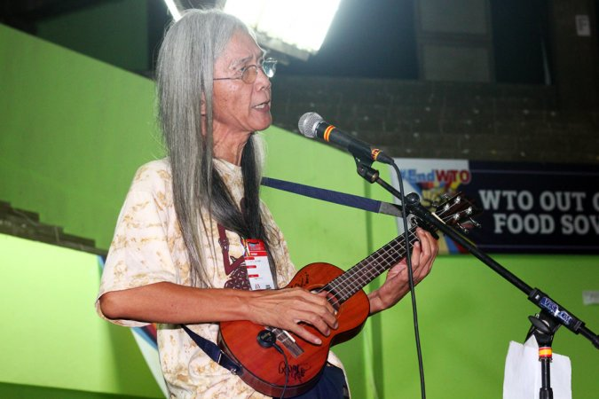 Indigenous music artist at the Social Movements for an Alternative Asia Assembly